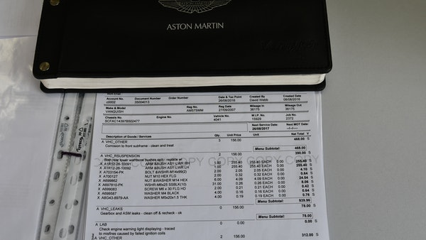 2007 Aston Martin Vanquish S For Sale (picture 121 of 135)