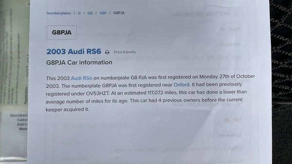 RESERVE LOWERED - 2003 Audi RS6 Avant For Sale (picture 56 of 57)