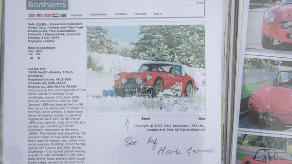 1959 Austin Healey 100/6 BN6 For Sale (picture 192 of 202)