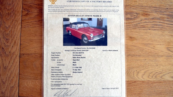 1963 Austin Healey Sprite Mk.II For Sale (picture 85 of 92)