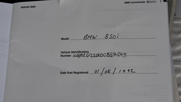 NO RESERVE! - 1992 BMW 850i For Sale (picture 104 of 109)