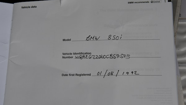 1992 BMW 850i For Sale (picture 106 of 111)