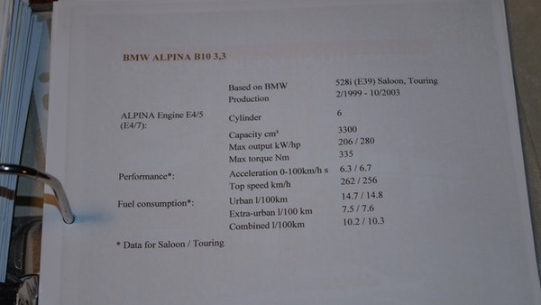 2000 BMW Alpina B10 3.3 For Sale (picture 142 of 163)