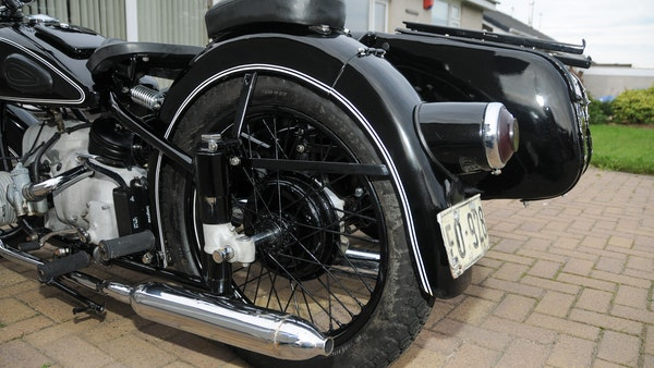 1953 BMW R68 with Royal Seitenwagen Sidecar For Sale (picture 18 of 99)