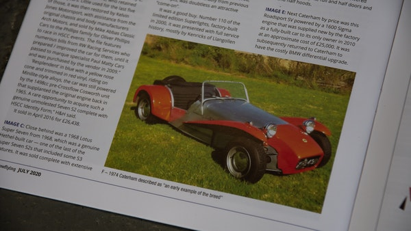 1974 CATERHAM S3 For Sale (picture 104 of 109)