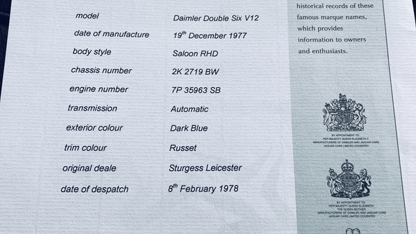 1978 Daimler Double Six S2 For Sale (picture 123 of 125)