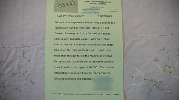 1974 Daimler Sovereign For Sale (picture 228 of 241)