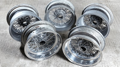 Original Borrani Ferrari 250GTO/SWB Wheels (x5)