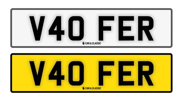 NO RESERVE! - Private Reg Plate - V40 FER For Sale (picture 1 of 3)