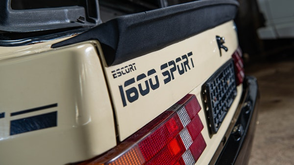 1986 Ford Escort 1600 Sport For Sale (picture 43 of 80)