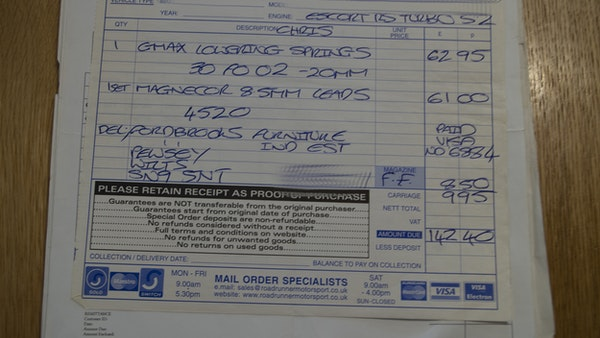 1990 Ford Escort RS Turbo S2 For Sale (picture 108 of 118)