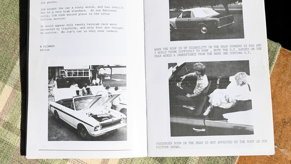 1967 Ford Lotus Cortina Mark II Crayford Convertible For Sale (picture 204 of 229)