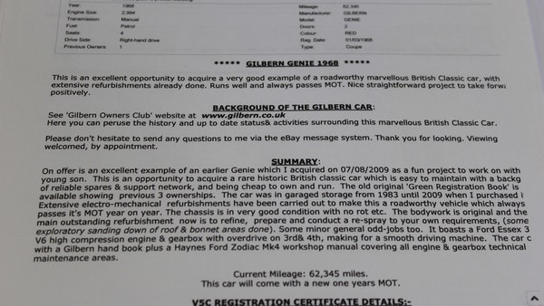 1968 Gilbern Genie For Sale (picture 115 of 134)