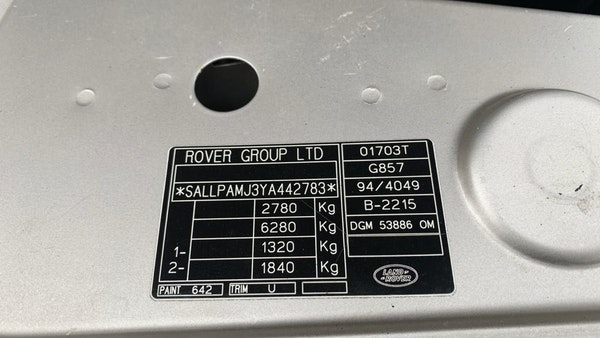 2000 P38 Range Rover 4.6 HSE For Sale (picture 104 of 129)