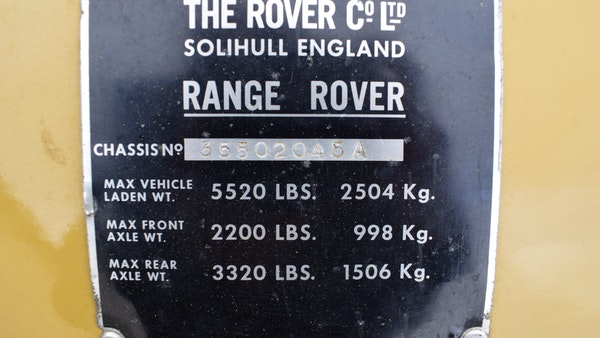 1971 Range Rover Suffix A For Sale (picture 77 of 110)