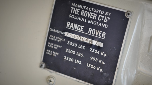 1972 Range Rover Suffix A (LHD) For Sale (picture 118 of 172)