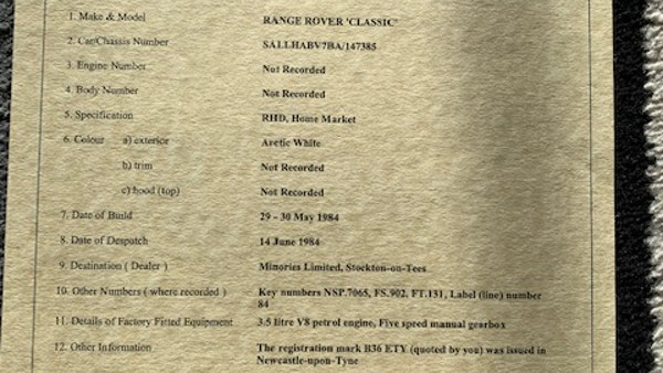 1984 Range Rover 2-Door V8 For Sale (picture 74 of 146)