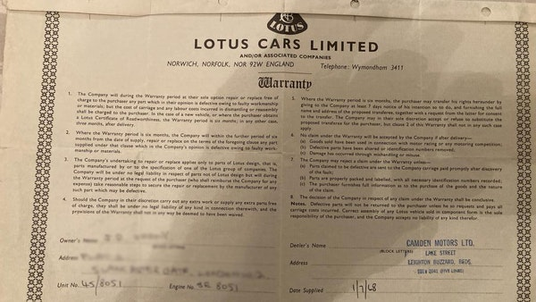 1968 Lotus Elan DHC For Sale (picture 113 of 114)