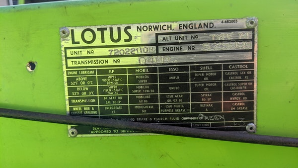1972 Lotus Europa Twin Cam For Sale (picture 62 of 127)