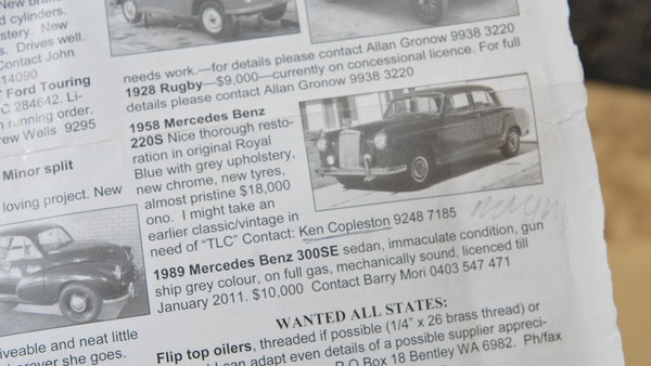 1958 Mercedes-Benz 220S For Sale (picture 152 of 152)