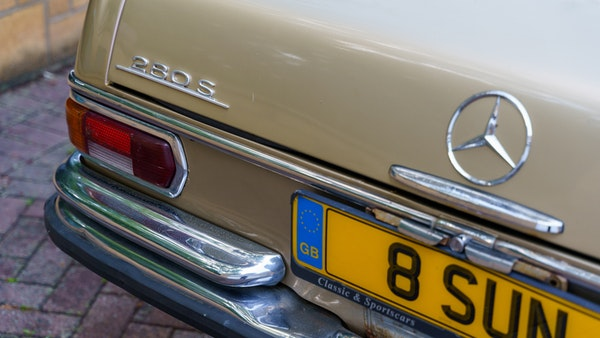 1972 Mercedes-Benz 280S LHD (W 108) For Sale (picture 81 of 140)