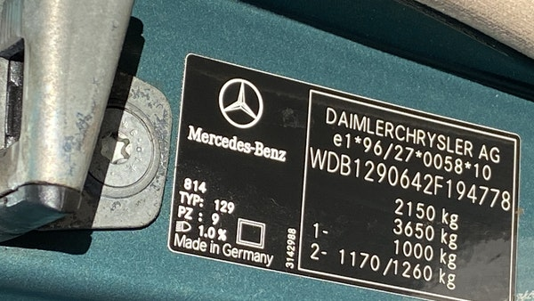 2000 Mercedes-Benz 320 SL Roadster For Sale (picture 40 of 53)