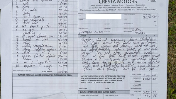 RESERVE LOWERED - 2000 Mercedes CL 600 V12 For Sale (picture 185 of 205)