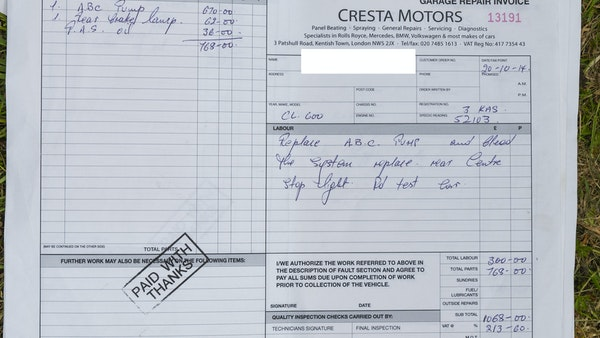 RESERVE LOWERED - 2000 Mercedes CL 600 V12 For Sale (picture 193 of 205)