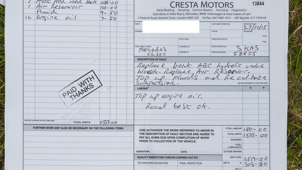 RESERVE LOWERED - 2000 Mercedes CL 600 V12 For Sale (picture 195 of 205)