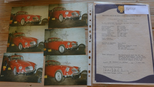 RESERVE LOWERED 1958 MGA Coupe For Sale (picture 194 of 212)