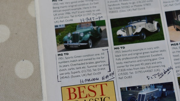 1951 MG TD For Sale (picture 137 of 138)