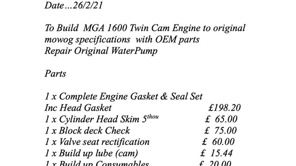 MGA Twin-Cam Engine For Sale (picture 7 of 8)