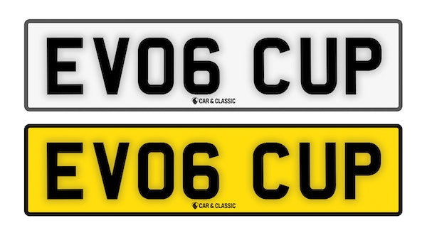 Private Reg Plate - EV06 CUP For Sale (picture 1 of 2)