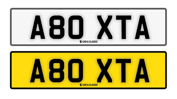 PRIVATE REG PLATE- A80 XTA For Sale (picture 1 of 3)