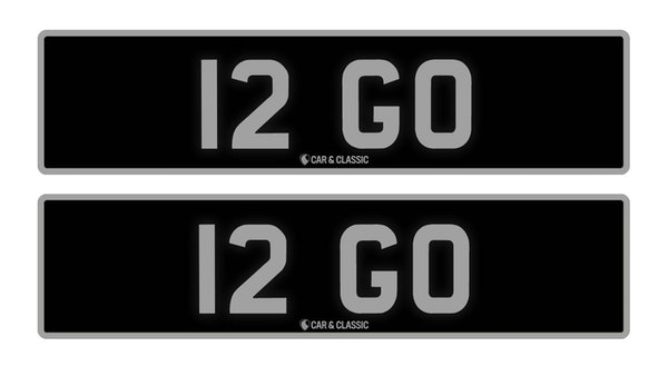 Private Reg Plate - 12 GO For Sale (picture 1 of 3)