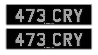 Private Reg Plate - 473 CRY