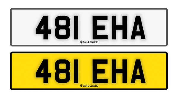 Private Reg Plate - 481 EHA For Sale (picture 1 of 3)