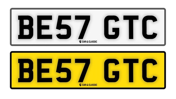 Private Reg Plate - BE57 GTC For Sale (picture 1 of 4)