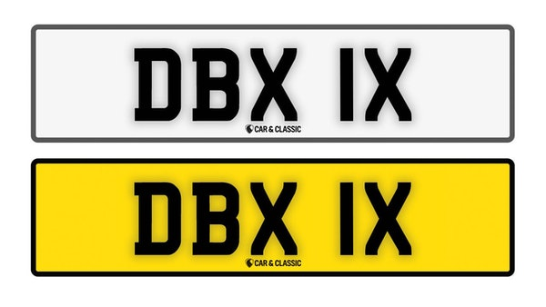 Private Reg Plate - DBX 1X For Sale (picture 1 of 3)