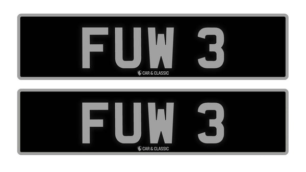 RESERVE LOWERED - PRIVATE REG PLATE - FUW 3 For Sale (picture 1 of 3)