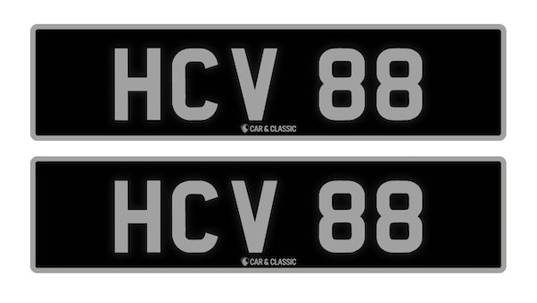 Private Reg Plate - HCV 88 For Sale (picture 1 of 3)