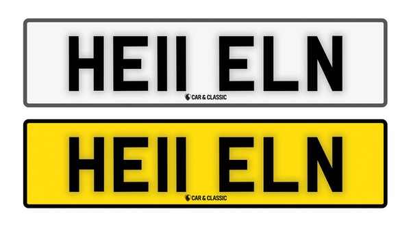 Private Reg Plate - HE11 ELN For Sale (picture 1 of 3)