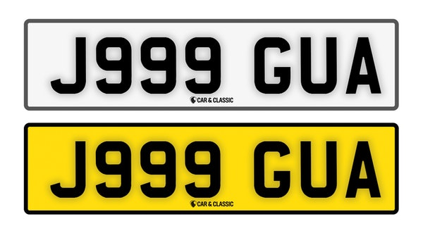 Private Reg Plate - J999 GUA For Sale (picture 1 of 3)