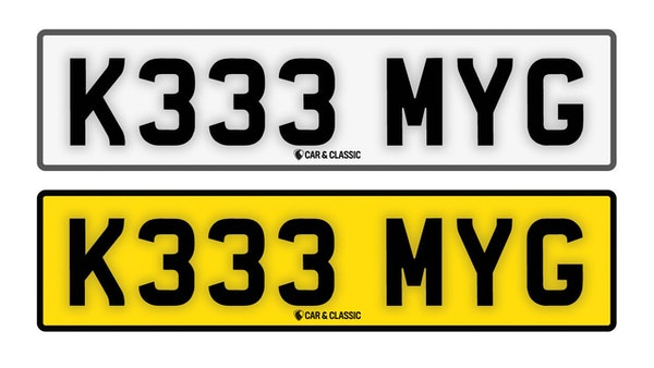 Private Reg Plate - K333 MYG For Sale (picture 1 of 3)