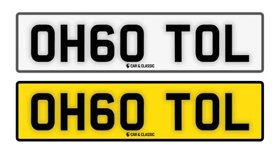 Private Reg Plate - OH60 TOL
