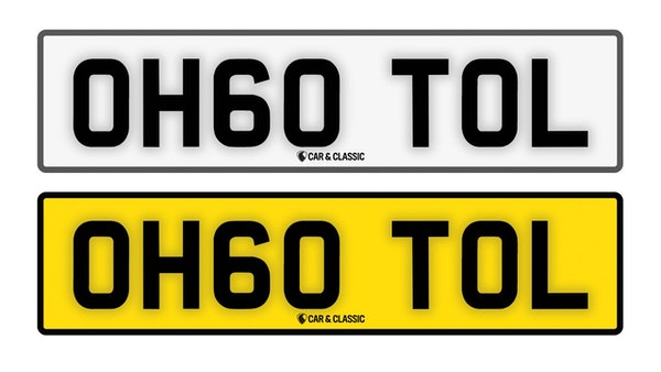 Private Reg Plate - OH60 TOL For Sale (picture 1 of 3)