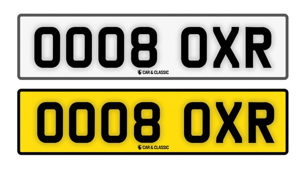Private Reg Plate - OO08 OXR For Sale (picture 1 of 3)