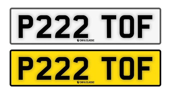 Private Reg Plate - P222 TOF For Sale (picture 1 of 3)