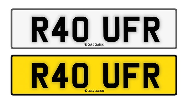Private Reg Plate - R40 UFR For Sale (picture 1 of 3)