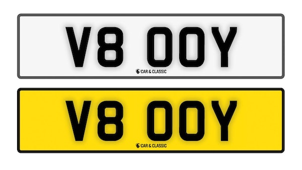 Private Reg Plate - V8 00Y For Sale (picture 1 of 3)